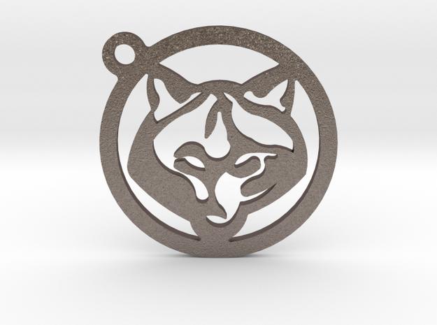 WOLF KEY in Polished Bronzed Silver Steel