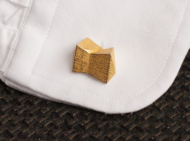 Cufflinks The Knot in Polished Gold Steel