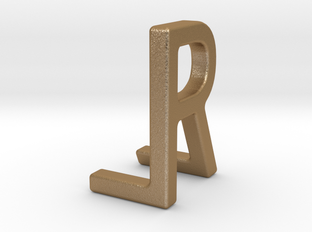 Two way letter pendant - LR RL