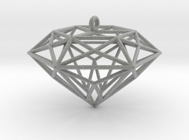 Diamond Ornament in Metallic Plastic