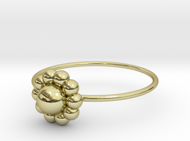 Size 7 Shapes Ring S3 in 18k Gold Plated Brass