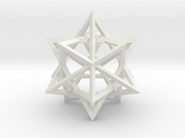 Tetrahedron 4 Compound in White Natural Versatile Plastic