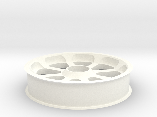 Smooth idler - 60 mm OD (~24T, 8P) in White Processed Versatile Plastic