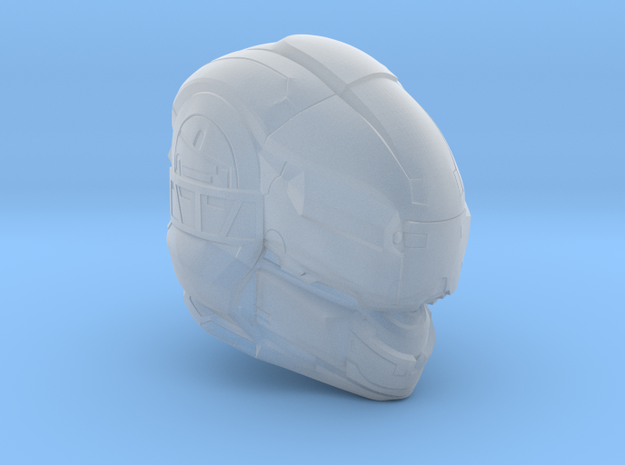 Halo 5 Gungnir 1/6 scale helmet in Smooth Fine Detail Plastic
