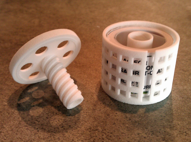 *stamp roll dispenser The Postmaster 1 3d printed