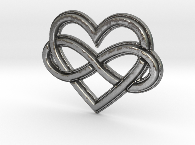 Polyamory Charm in Natural Silver