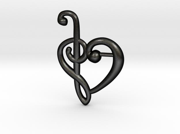 Clef Heart Pendant