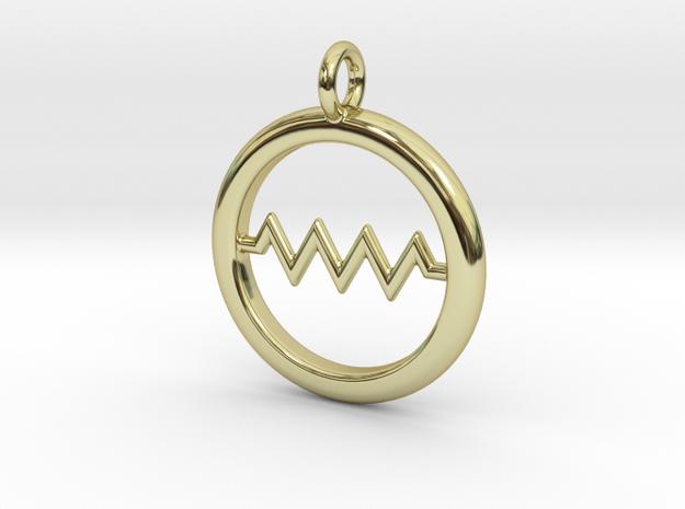 Resistor Symbol Pendant in 18k Gold Plated Brass