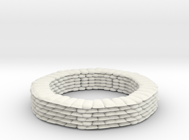 Sandbag Ring for 9mm, 1/200 in White Natural Versatile Plastic