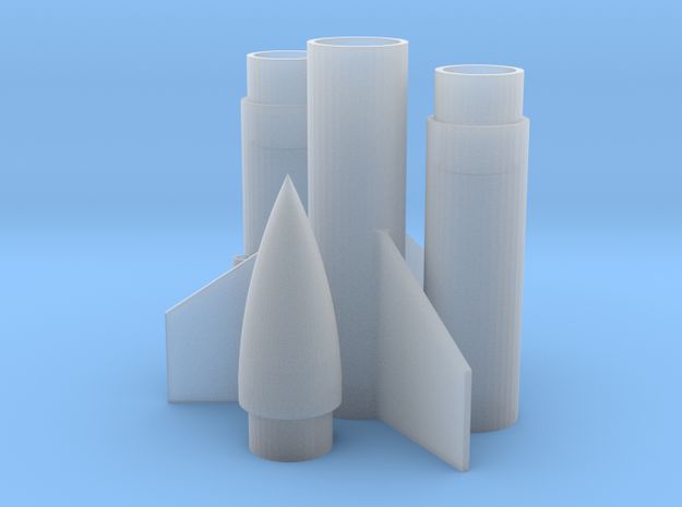 Rocket (engine class B or C) 3d printed