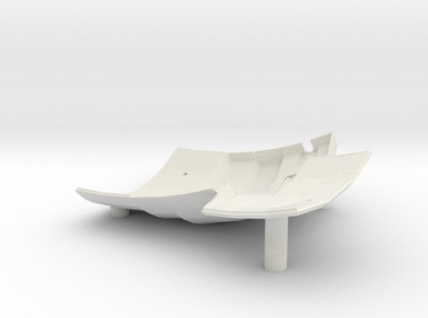 Dactyl Keyboard - Left Bottom in White Natural Versatile Plastic