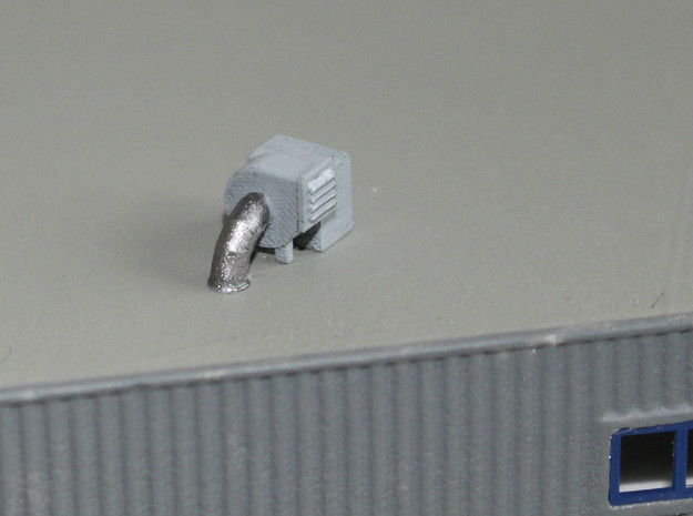 N Scale 3x Rooftop Fan #1 in Smooth Fine Detail Plastic