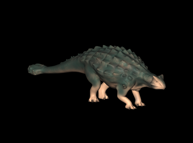 Jurassic World Dinosaurs Ankylosaurus Model A.01 in White Strong & Flexible Polished