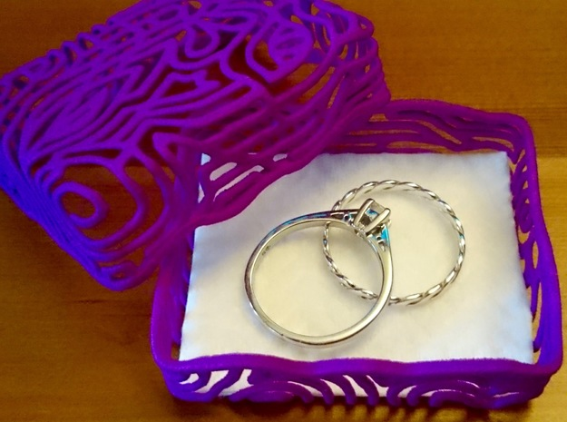 Abstract Keepsake Box in Purple Processed Versatile Plastic