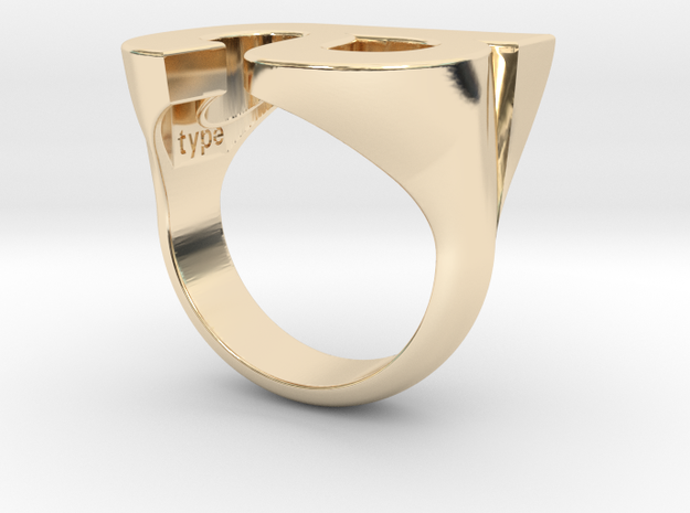 Helvetica Ring A  SZ5 in 14K Yellow Gold