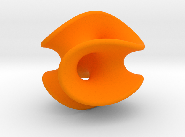 Chen-Gackstatter Surface in Orange Processed Versatile Plastic
