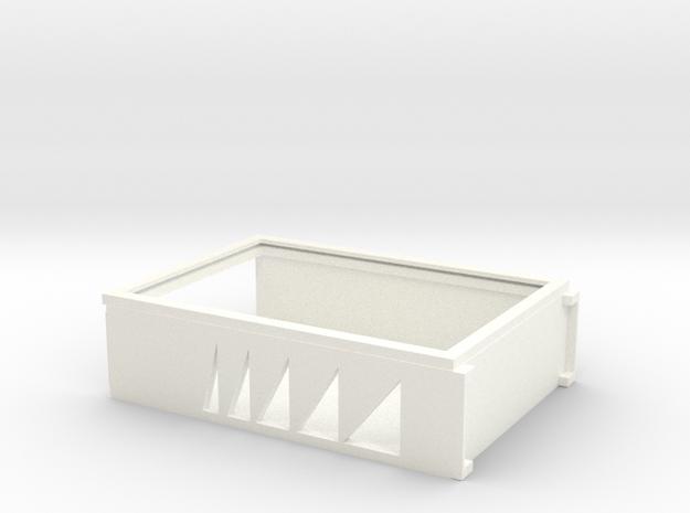CARD DECK HOLDER in White Processed Versatile Plastic
