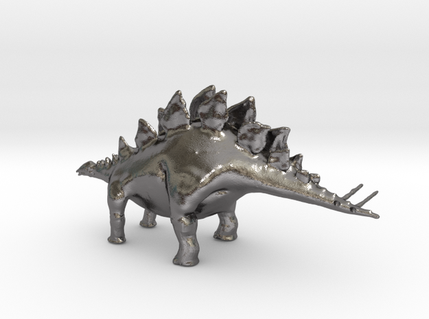 Replica Toys Dinosaurs Stegosaurus Full Color  in Polished Nickel Steel