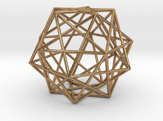 Expanded Dodecahedron in Polished Brass