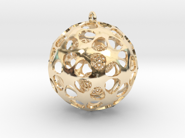 Hadron Ball - 3.8cm in 14k Gold Plated