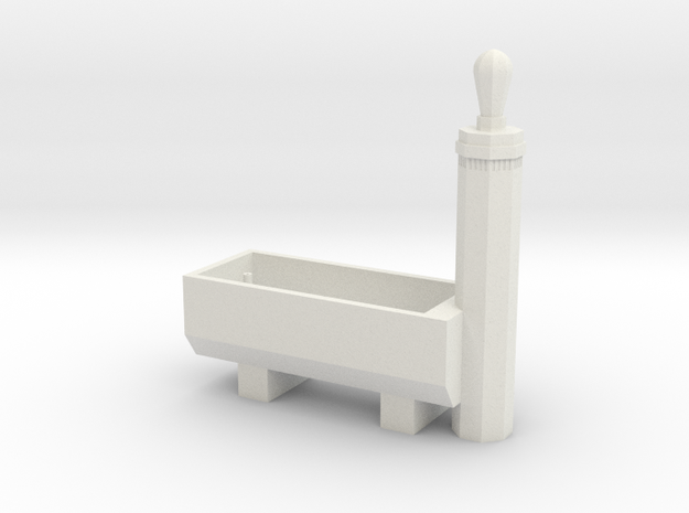 RhB Fountain - std ver. with hole in White Strong & Flexible