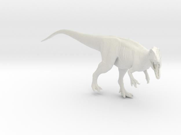 Dinosaur Carcharodontosaurus 1:40 V2  in White Natural Versatile Plastic