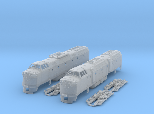 N Scale Krauss Maffei Pair in Smooth Fine Detail Plastic