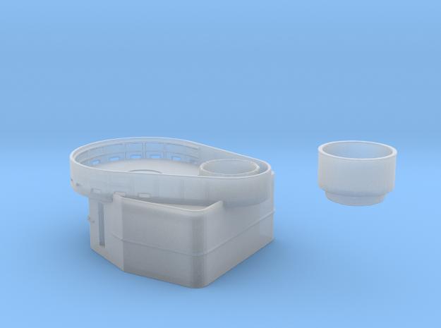 Fletcher-class Tear Drop Gun Tub Version 1 in Smoothest Fine Detail Plastic: 1:144
