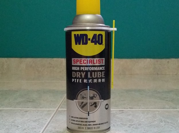 WD-40 360ml can straw holder in White Natural Versatile Plastic