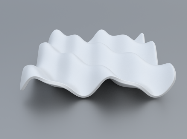 Mathematical Function 6 in White Processed Versatile Plastic