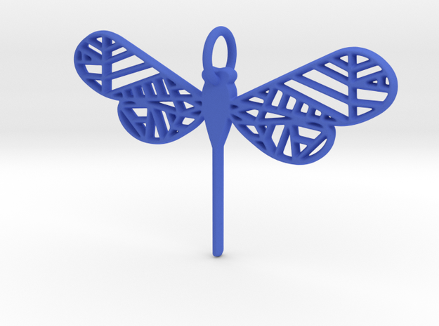 Geometric Dragonfly in Blue Strong & Flexible Polished