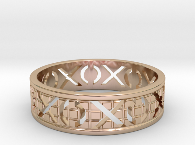Size 9 Xoxo Ring A in 14k Rose Gold Plated Brass