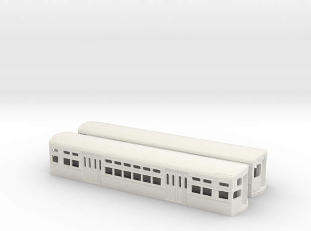 CTA 6000 Series, Modified Flat Door Pair in White Natural Versatile Plastic