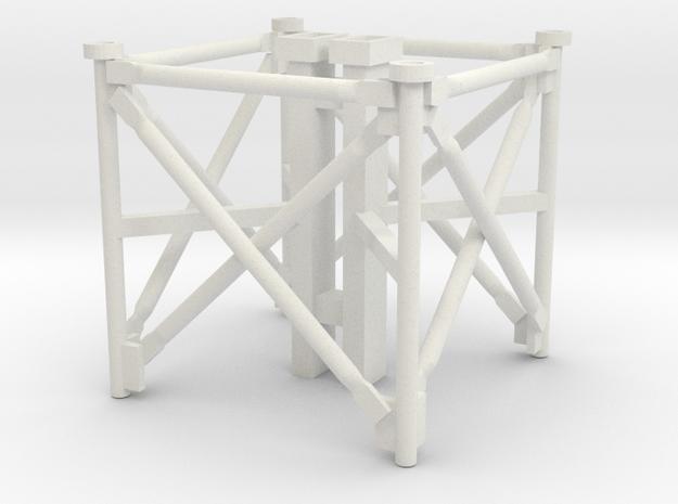 1/64 Grain Leg Middle Section in White Natural Versatile Plastic