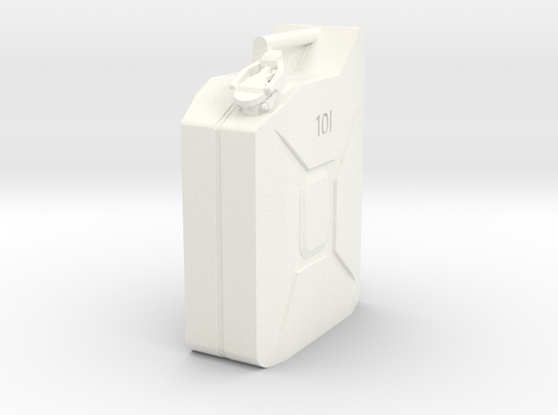 10L Jerry Can 1/10 scale in White Strong & Flexible Polished