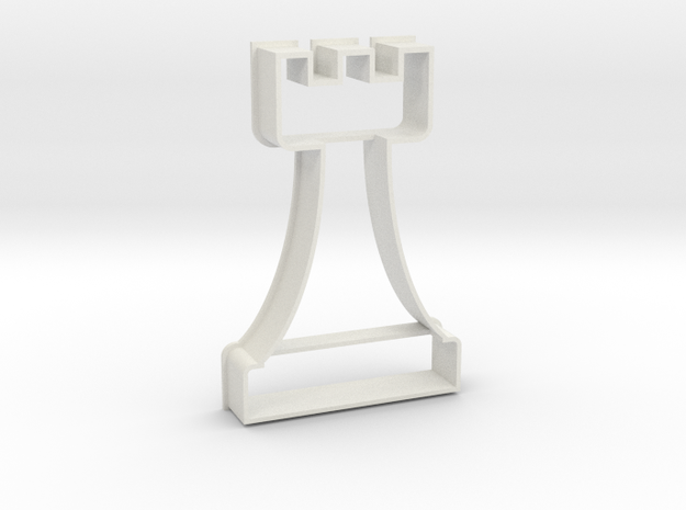 Cookie Cutter - Chess Piece Rook in White Natural Versatile Plastic