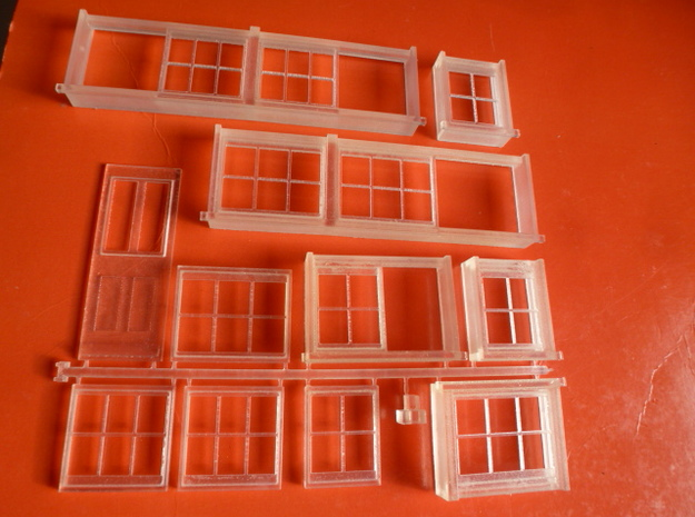 Chard Junction Signal Box Window Assembly in Frosted Ultra Detail