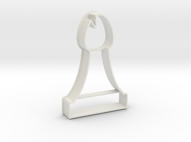 Cookie Cutter - Chess Piece Bishop in White Natural Versatile Plastic