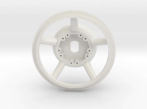 1/16 E-100  Drive Wheel  Part 1    in White Natural Versatile Plastic
