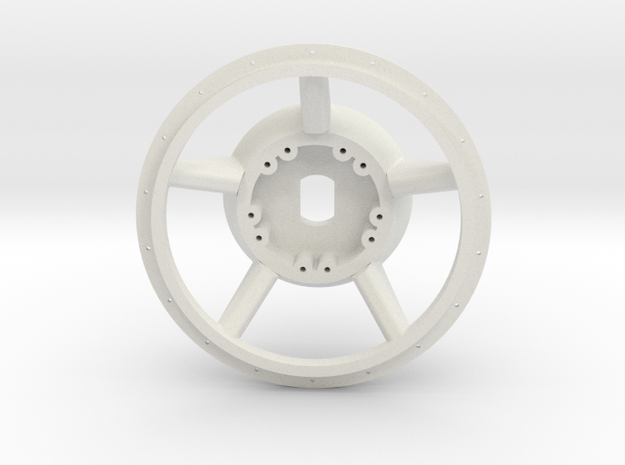 1/16 E-100  Drive Wheel  Part 1    in White Strong & Flexible
