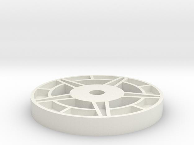 1/16 Idler Wheel E-100  Part 3 in White Natural Versatile Plastic