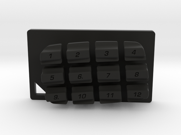 Nyth Single Dragon Buttons  in Black Natural Versatile Plastic