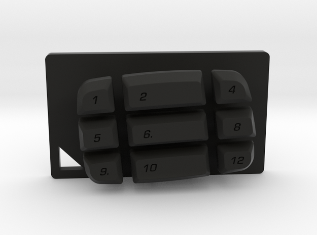Nyth Mid Double Buttons  in Black Natural Versatile Plastic