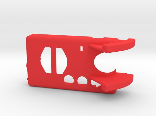 Mobius Case - Top 0-45° in Red Processed Versatile Plastic