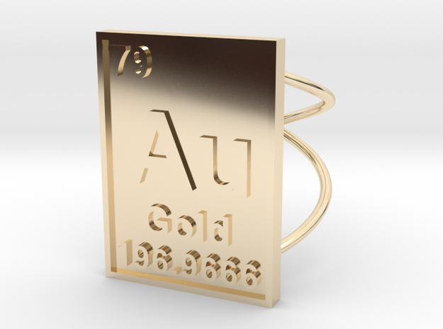 Gold Periodic Table Ring Size 6 3d printed