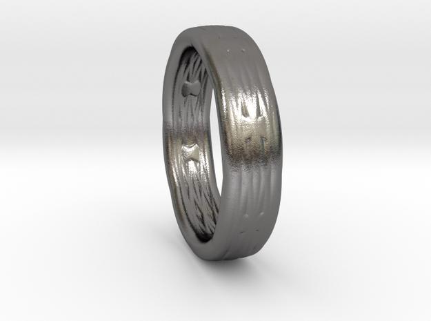 RopeRing Beta big in Polished Nickel Steel