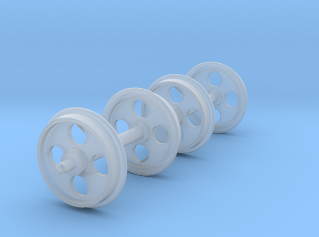 1:24 Heywood Light Wheelset Sprue in Smooth Fine Detail Plastic