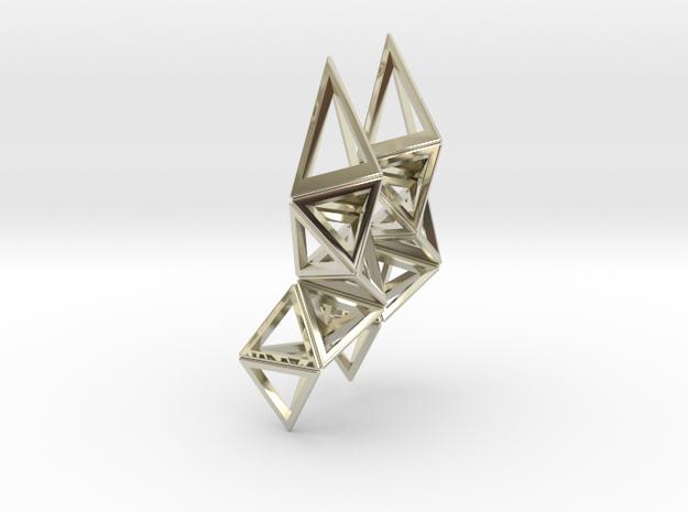 CRYSTAL - earrings 3d printed
