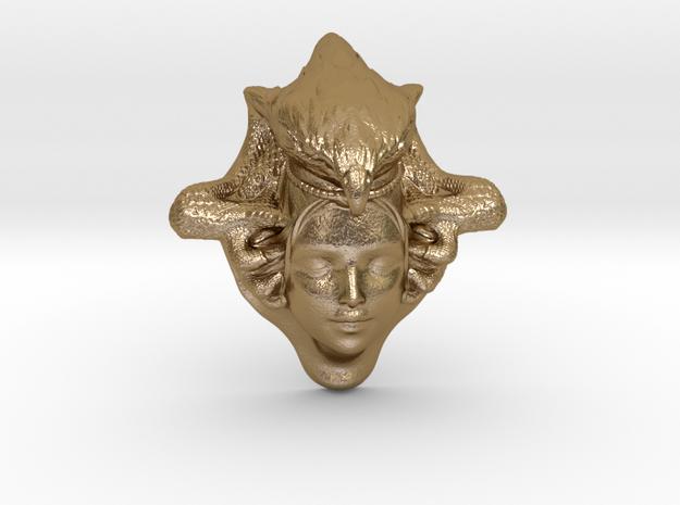 Lady Hawk  7 cm in Polished Gold Steel