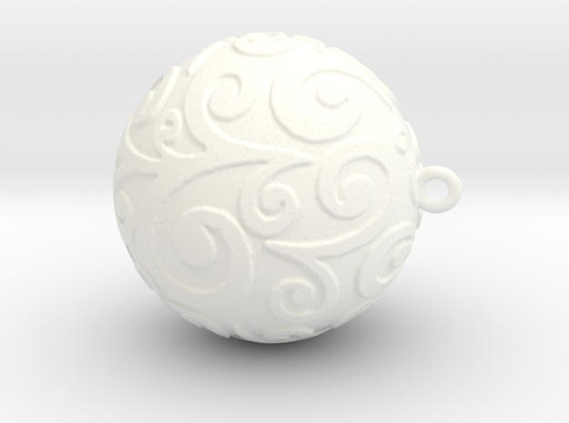 Christmas ornament ball 2 in White Processed Versatile Plastic